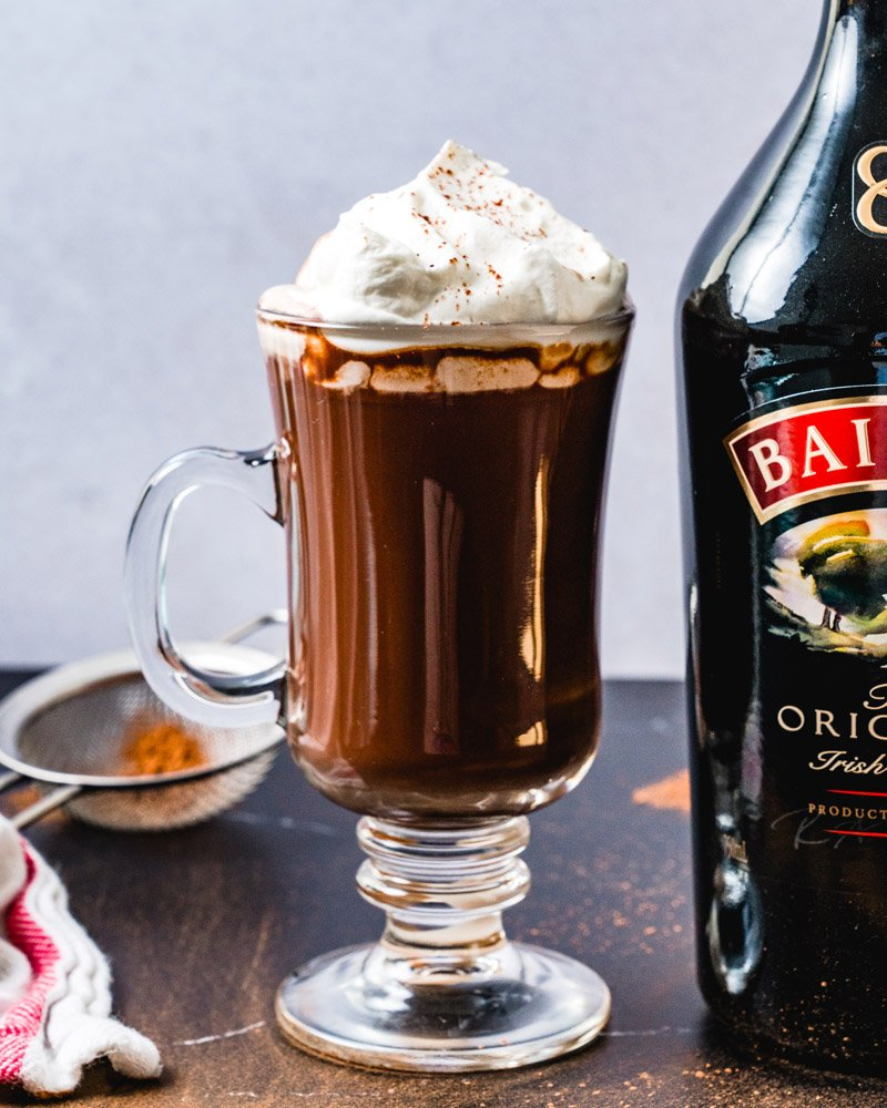 Spiked hot chocolate with Baileys