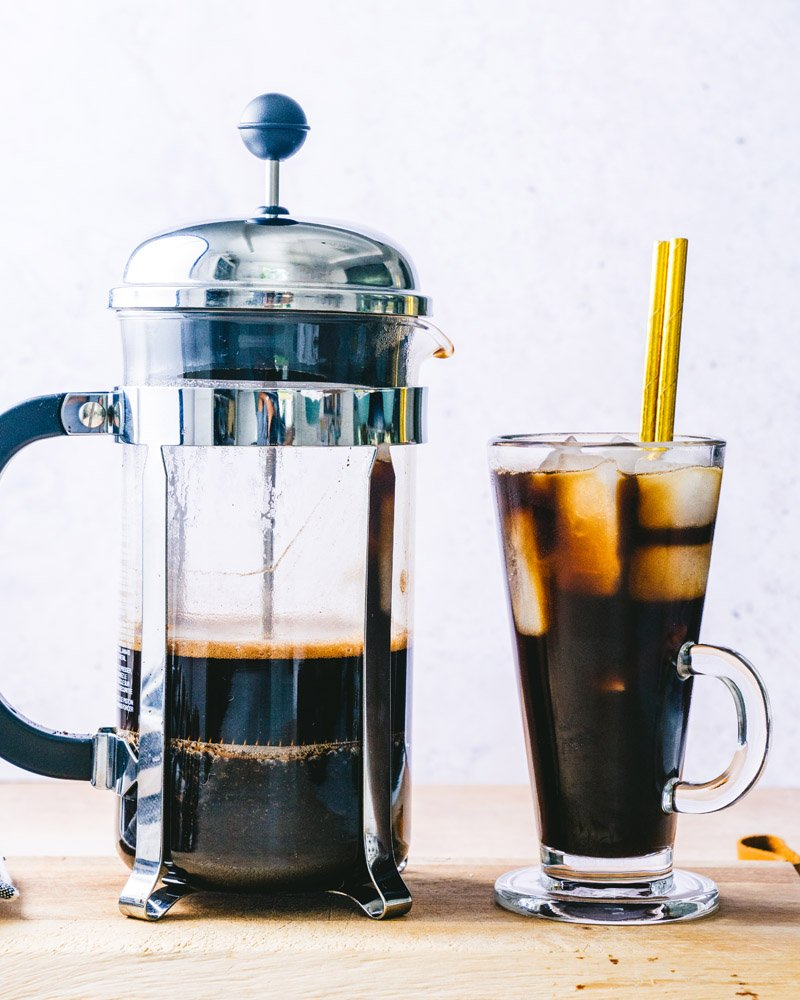 French press iced coffee