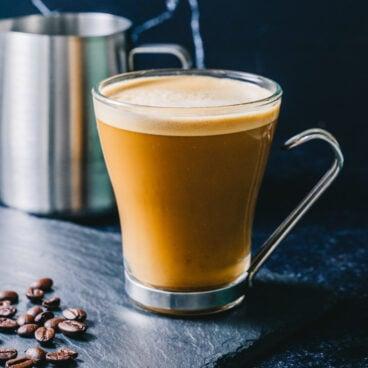 Almond milk coffee