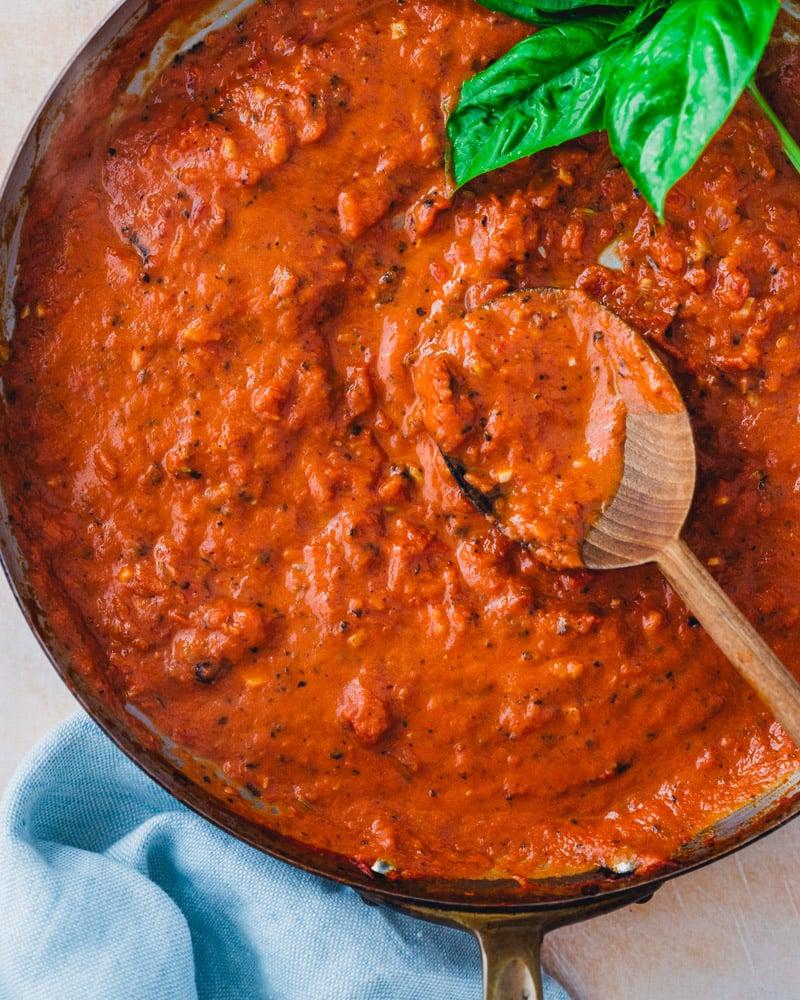 Tomato cream sauce recipe