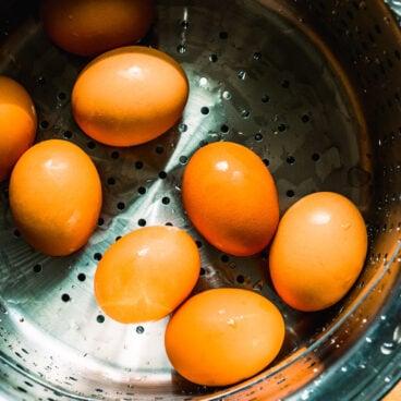 Steamed Hard Boiled Eggs